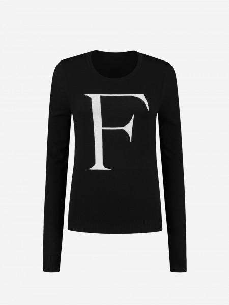 Knitted jumper met F logo