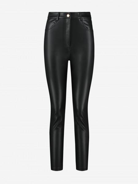 high rise vegan leather pants
