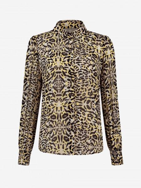 blouse met luipaardprint