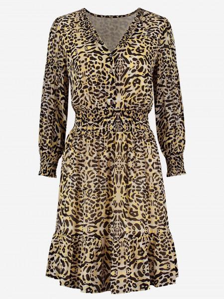 korte jurk met luipaardprint