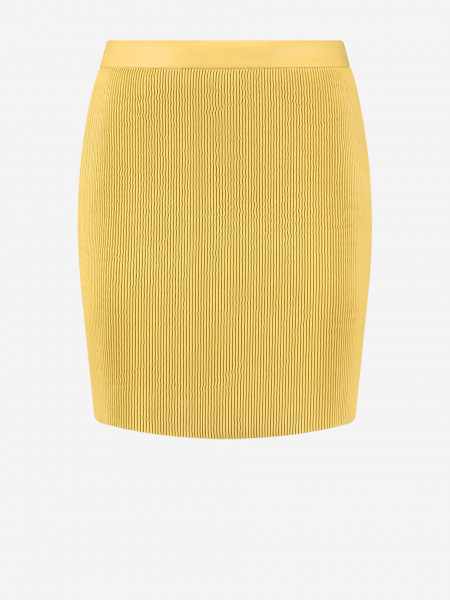 korte geribde rok