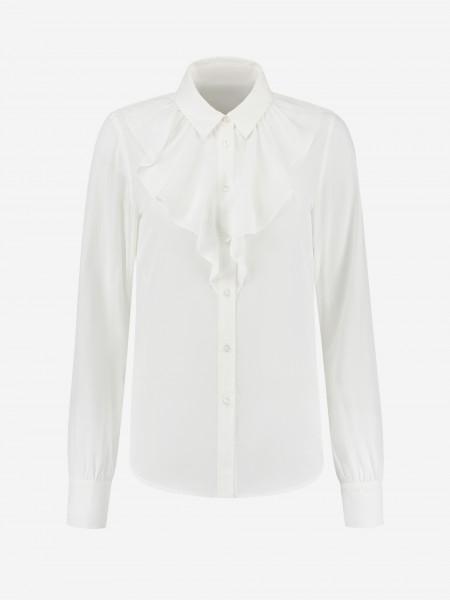 Witte blouse met ruffle