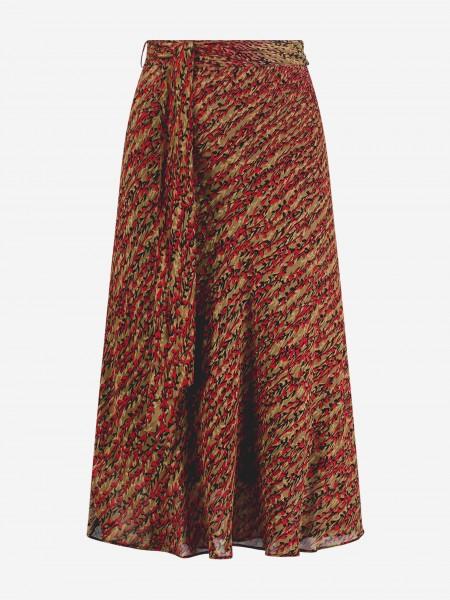 A-lijn rok met bloemenprint