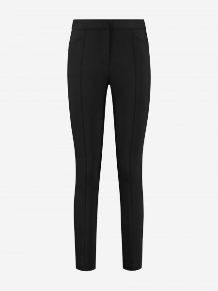 Zwarte pantalon met ingestreken plooi