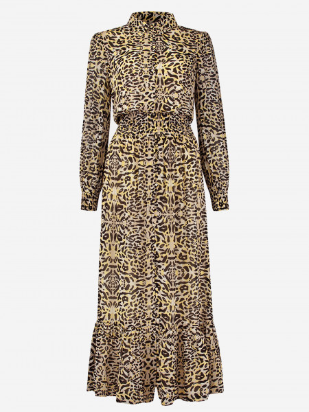 maxi-jurk met luipaardprint
