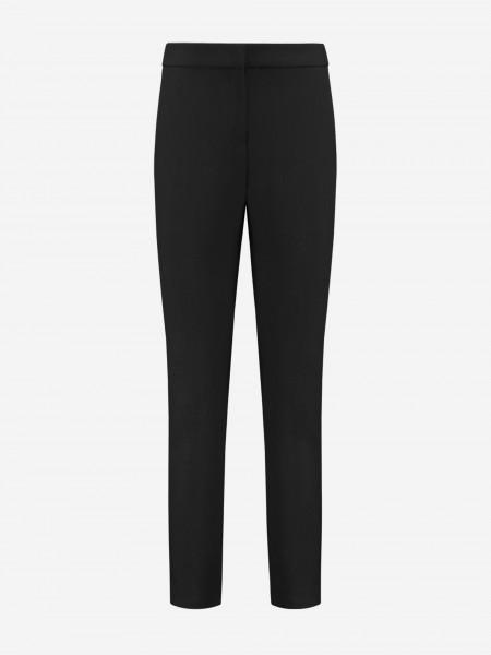 Zwarte effen broek met zakken