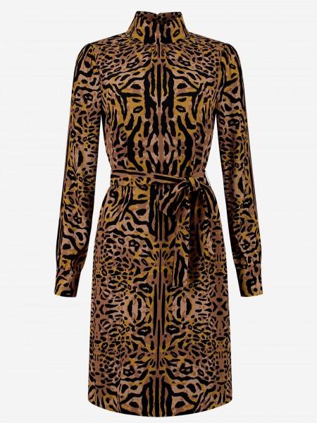 Korte jurk met dierenprint