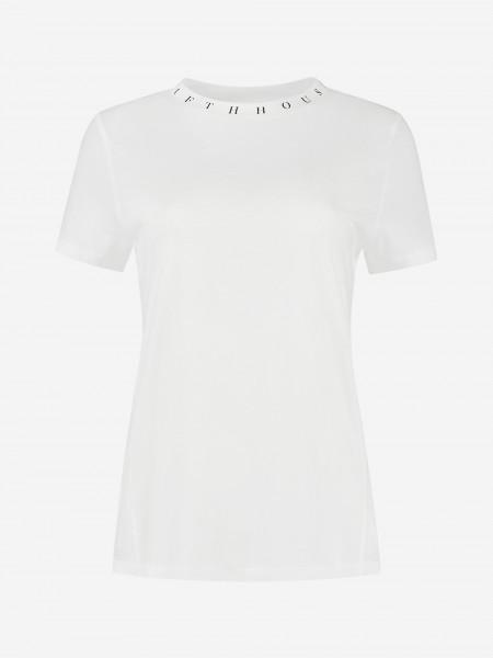 T-shirt met artwork op kraag