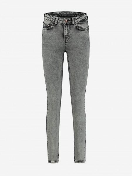 Five pocket grijze skinny jeans