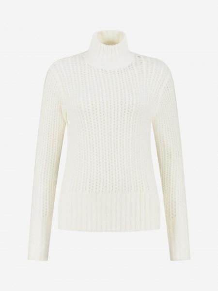 Losse knit met hoge kraag